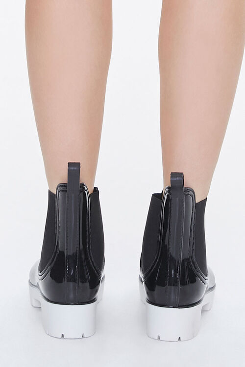 Faux Patent Leather Chelsea Boots, image 3