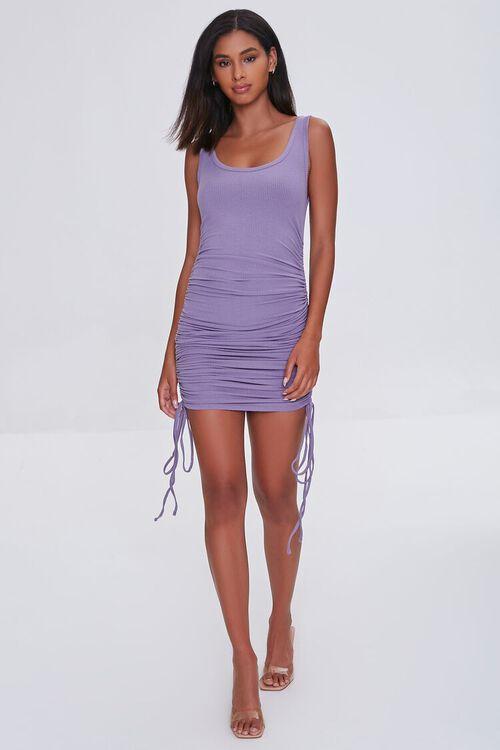Ruched Drawstring Tank Dress, image 4