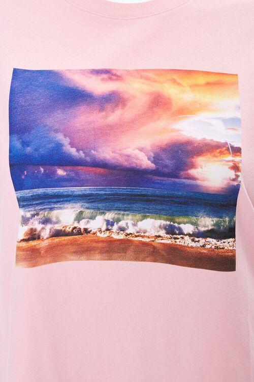 BLUSH/MULTI Plus Size Beach Graphic Tee, image 3