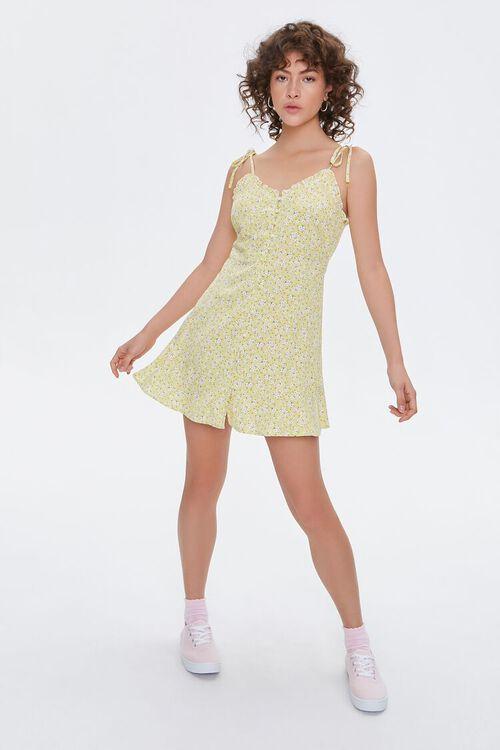 Floral Self-Tie Cami Dress, image 4