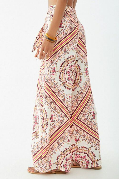Ornate Print Knotted Overlay Pants, image 3