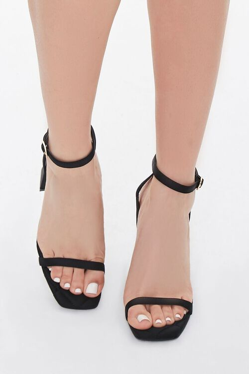 Quilted Single-Strap Block Heels, image 4