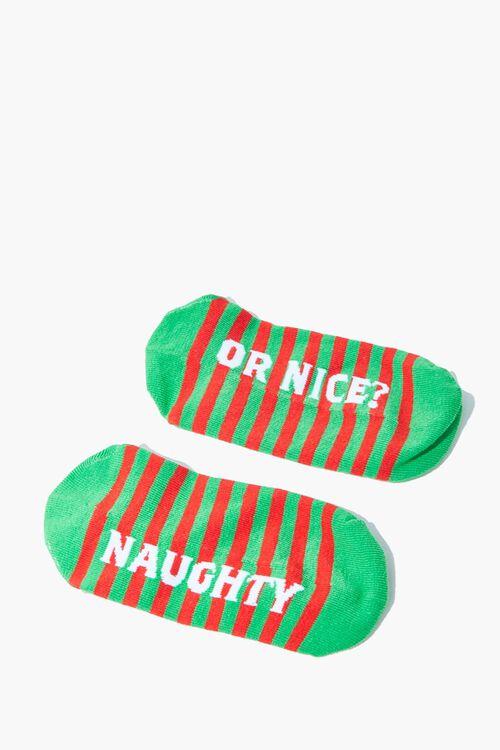 Naughty Or Nice Ankle Socks, image 1