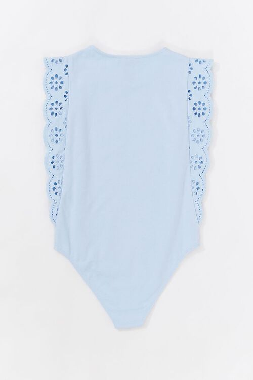 Girls Lace Cap-Sleeve Bodysuit (Kids), image 2