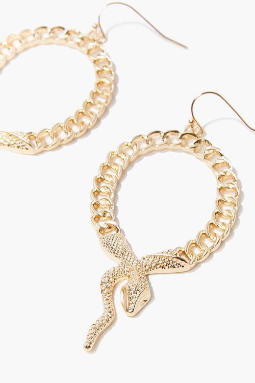 GOLD Snake Pendant Drop Earrings, image 2