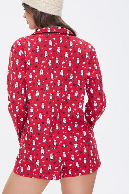 Ski Bear Print Pajama Set, image 3