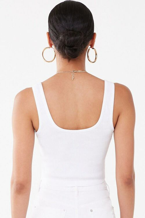 WHITE/GOLD Baby Phat Graphic Cropped Tank Top, image 3