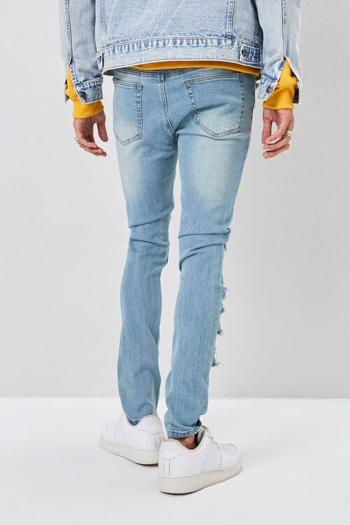 Bleached Distressed Skinny Jeans, image 4