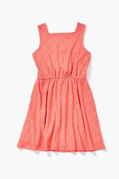 Girls Knotted Eyelet Dress (Kids), image 2