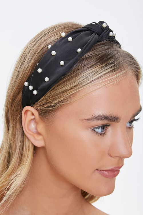 Knotted Faux Pearl Headwrap, image 2