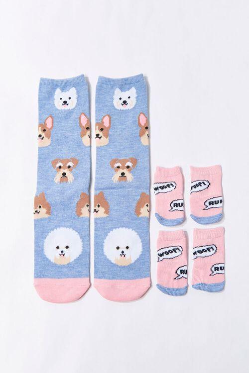 Dog Print Sock Set, image 1