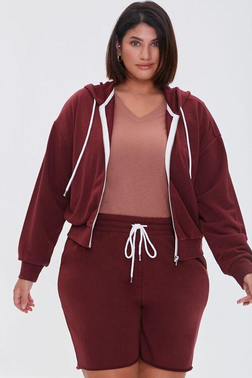 Plus Size Boyfriend Sweatshorts, image 1