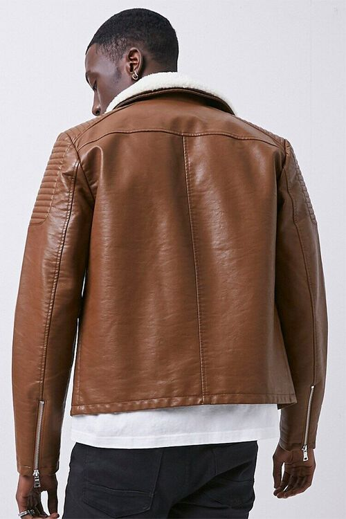Faux Leather Moto Jacket, image 3