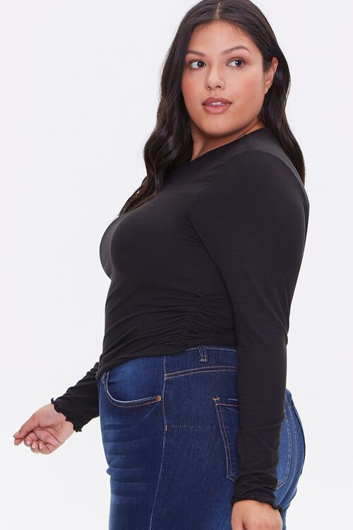 Plus Size Brushed Ruched Top, image 2