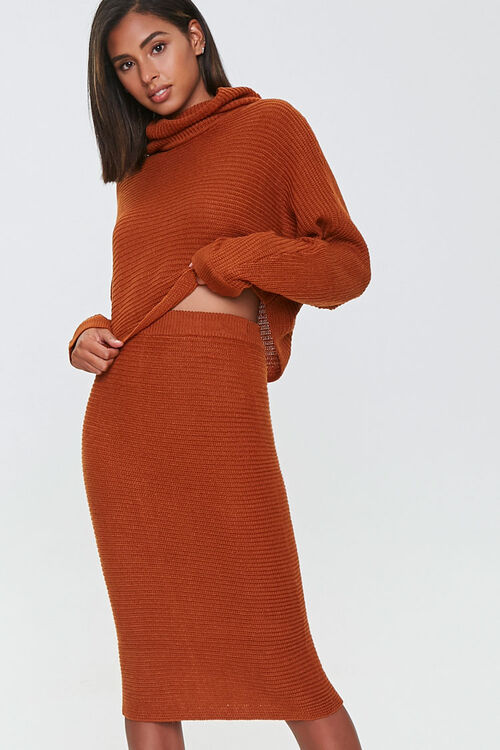 Sweater-Knit Top & Skirt Set, image 4