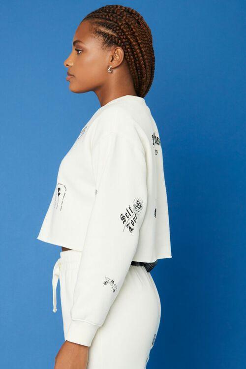 CREAM/BLACK Hot Wheels Fleece Pullover, image 2