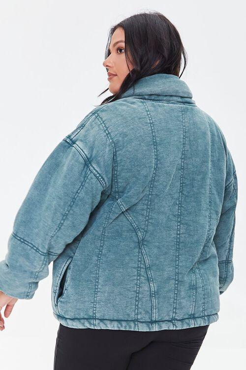 TEAL Plus Size Mineral Wash Jacket, image 3