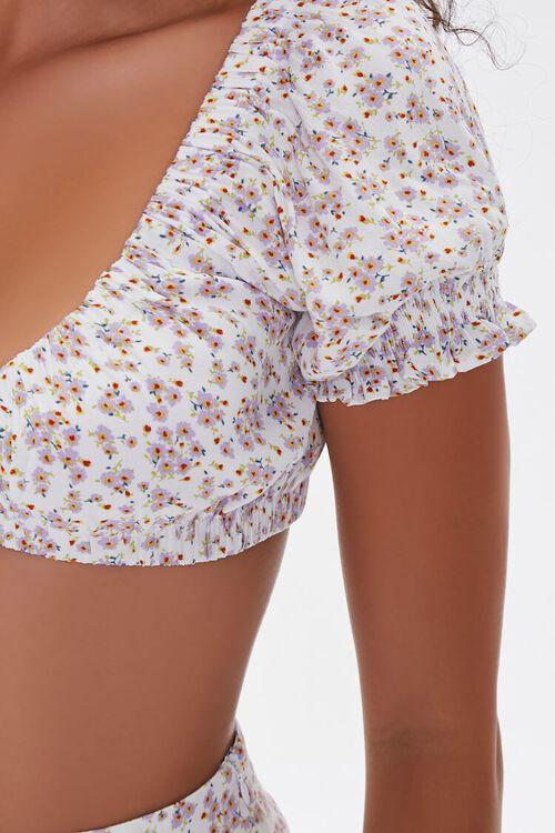 Floral Crop Top & Mini Skirt Set, image 5