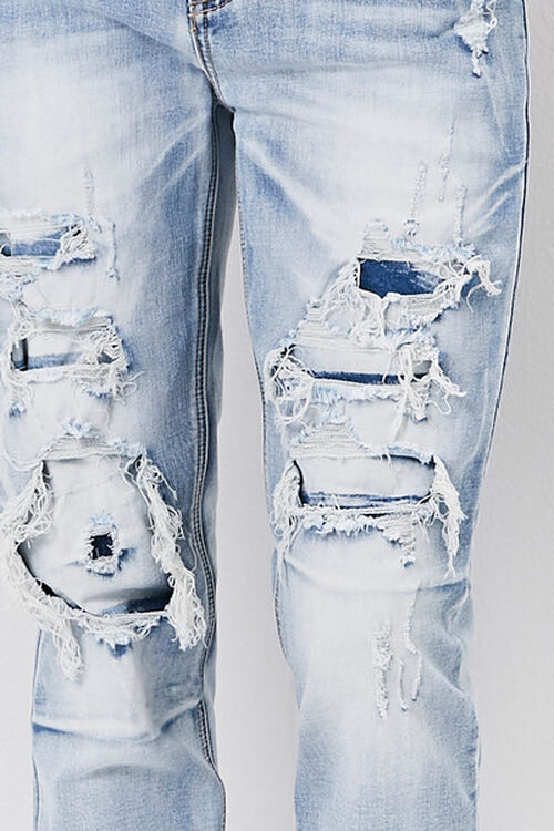 Bleached Distressed-Panel Jeans, image 5