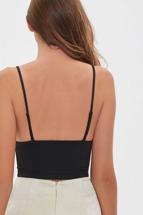BLACK Cropped V-Neck Cami, image 3