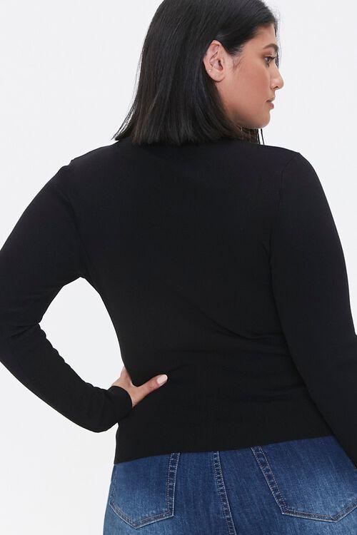 Plus Size Studded Mock Neck Sweater, image 3