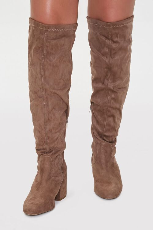 Faux Suede Self-Tie Boots (Wide), image 2