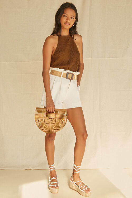 CAMEL Ribbed Sweater-Knit Cami, image 4