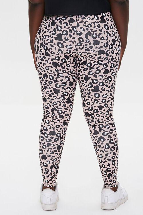 Plus Size Active Leopard Print Leggings, image 4