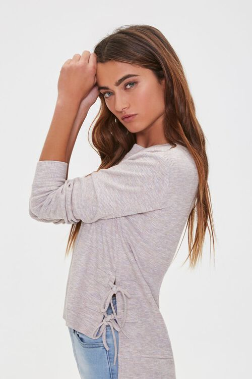 Lace-Up High-Low Top, image 1