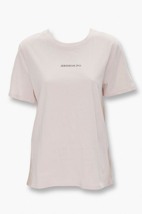 TAUPE/BLACK Organically Grown Cotton Graphic Tee, image 1