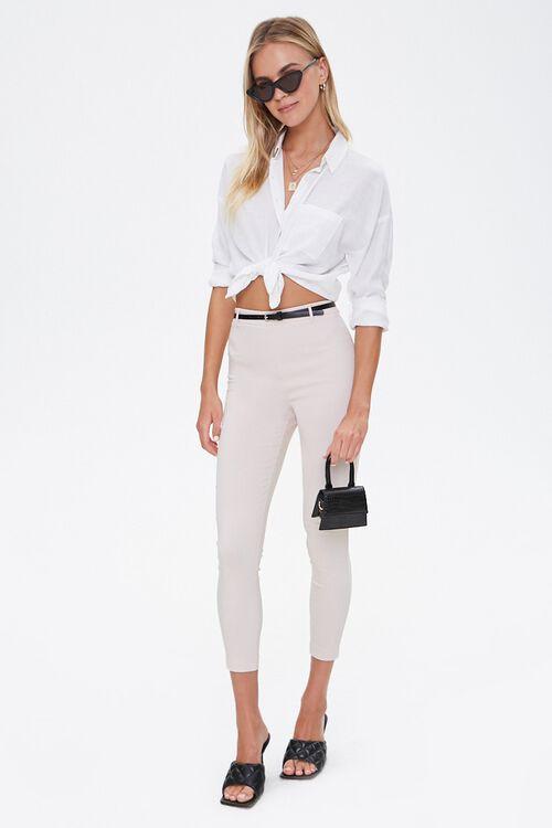 Skinny Belted Harper Pants, image 4