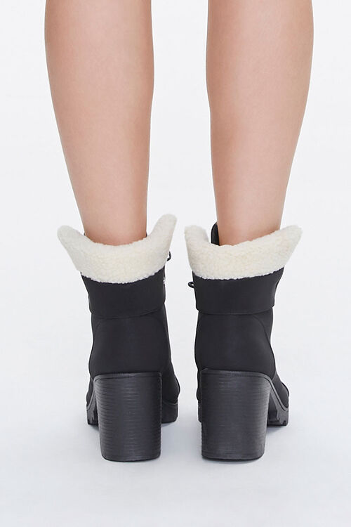 Faux Shearling Ankle Boots, image 3