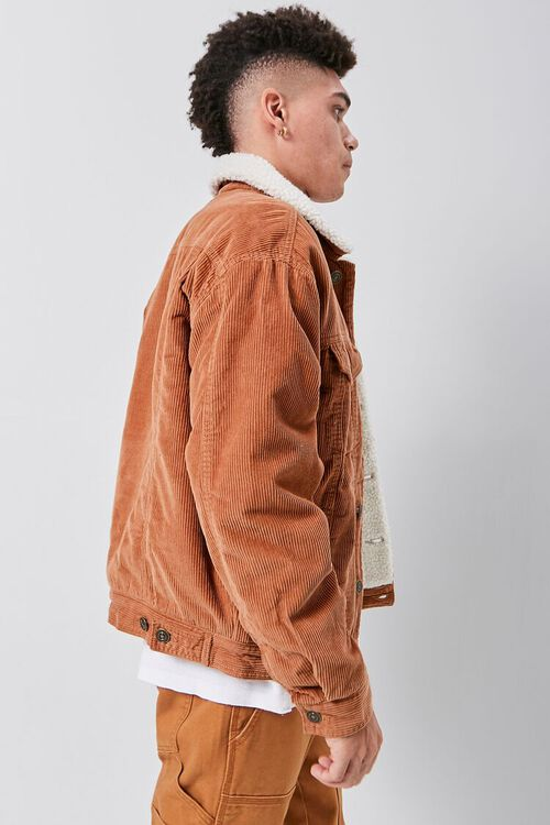 Corduroy Faux Shearling-Lined Jacket, image 2