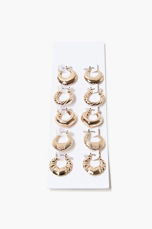 Engraved Hoop Earring Set, image 1