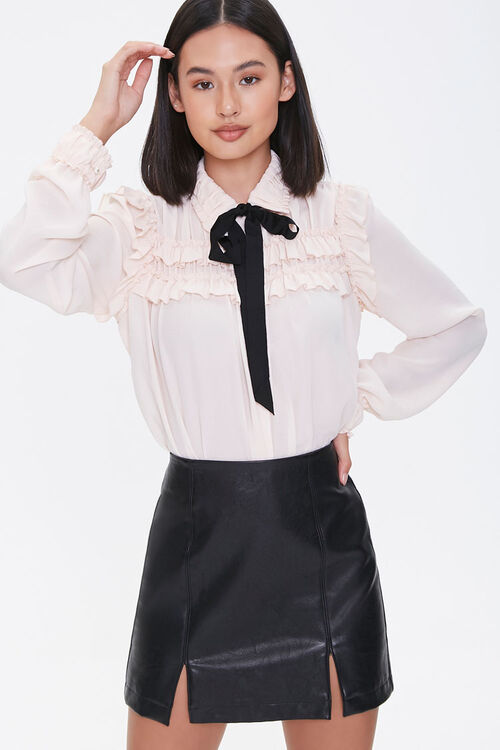 Ruffled Pussycat Bow Shirt, image 1