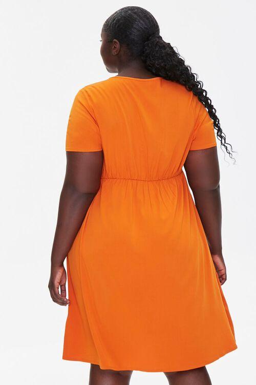 RUST Plus Size Fit & Flare Dress, image 3