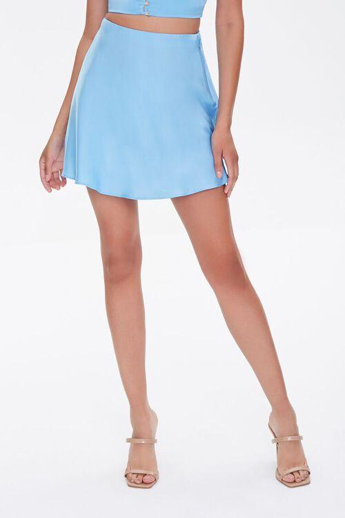 BLUE Skater Mini Skirt, image 2
