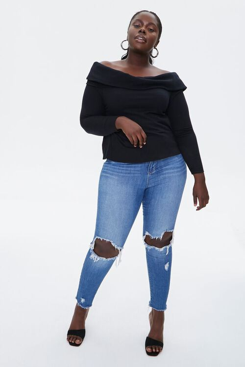 Plus Size Off-the-Shoulder Top, image 4