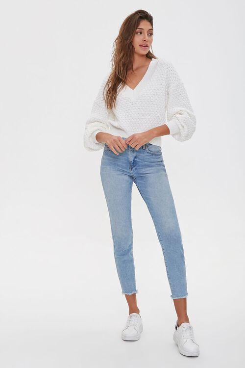 Textured V-Neck Sweater, image 4