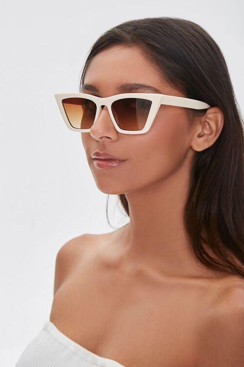 CREAM/BROWN Cat-Eye Sunglasses, image 1