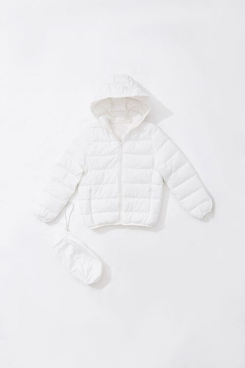 Girls Hooded Puffer Jacket (Kids), image 1