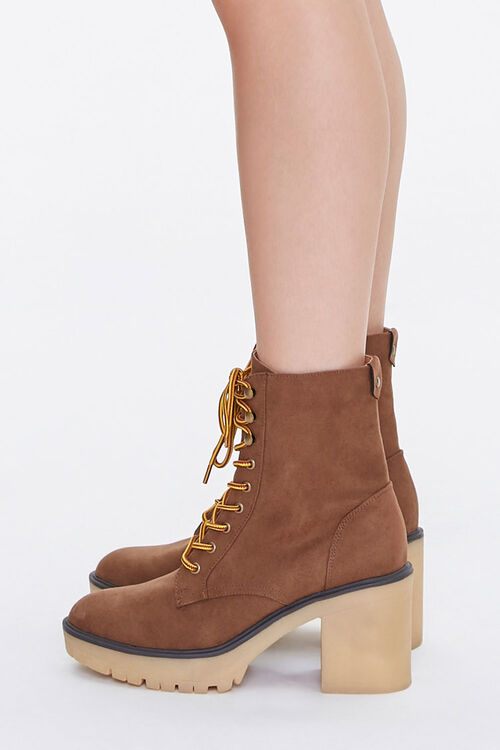 Lace-Up Block Heel Boots, image 2