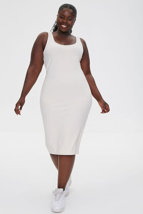 Plus Size Ribbed Tank Dress, image 4
