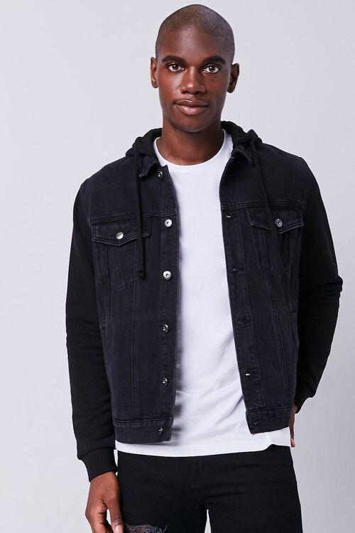 Contrast Hooded Denim Jacket, image 1