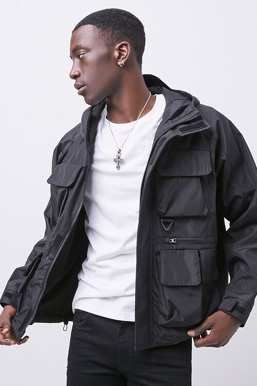 Zip-Up Hooded Utility Jacket, image 5