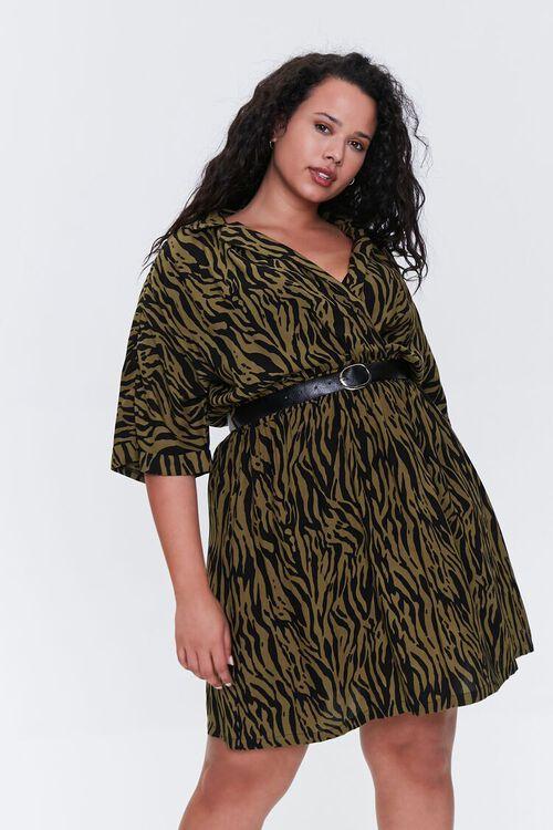 Plus Size Tiger Striped Dress, image 1
