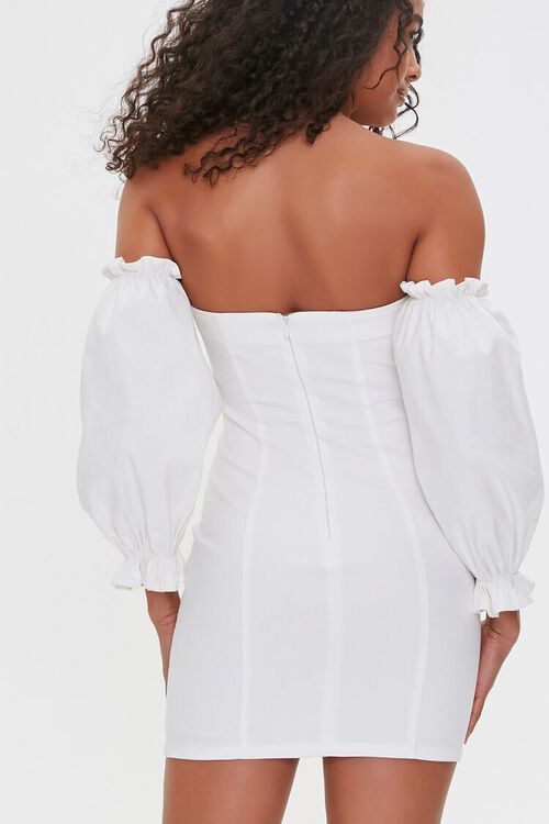 Off-the-Shoulder Lace-Up Dress, image 4