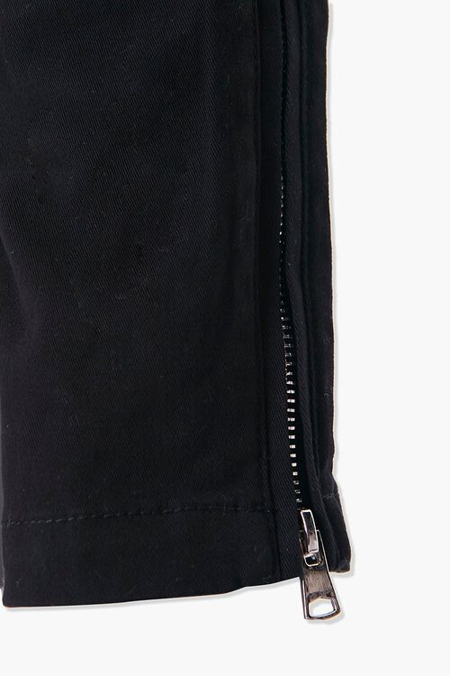 Drawstring Ankle-Zip Skinny Pants, image 4