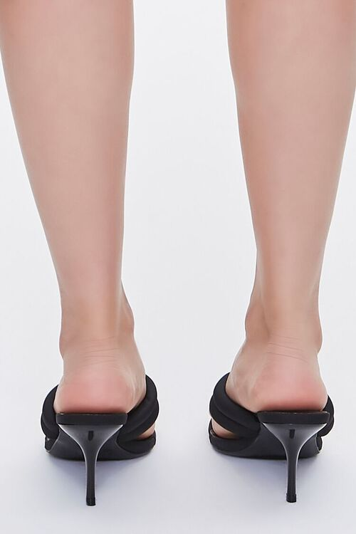 BLACK Quilted Thong-Toe Heels, image 3