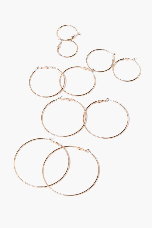 GOLD Hoop Earring Set, image 1